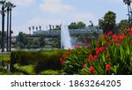 Echo Park Water Fountain In Lo...