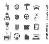 car auto service icons set of...   Shutterstock . vector #186326636