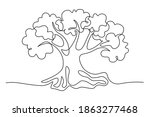 tree in continuous line art... | Shutterstock .eps vector #1863277468
