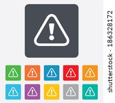 attention sign icon.... | Shutterstock .eps vector #186328172