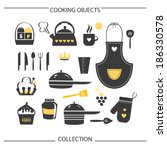 cooking objects collection | Shutterstock .eps vector #186330578