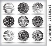 grunge globes. vector | Shutterstock .eps vector #186336368