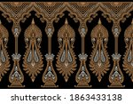 traditional asian paisley... | Shutterstock .eps vector #1863433138