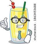 cartoon drawing of pina colada... | Shutterstock .eps vector #1863453688
