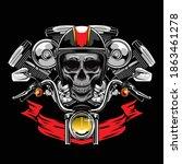 skull bikers illustration...   Shutterstock .eps vector #1863461278