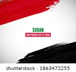 happy independence day of sudan ... | Shutterstock .eps vector #1863472255