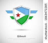elegant glossy shield for... | Shutterstock .eps vector #1863472285