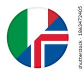 round icon with italy and... | Shutterstock .eps vector #1863472405