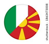 round icon with italy and north ... | Shutterstock .eps vector #1863473008