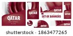 vector set of banners with the... | Shutterstock .eps vector #1863477265