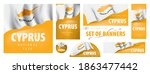 vector set of banners with the... | Shutterstock .eps vector #1863477442