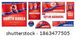 vector set of banners with the... | Shutterstock .eps vector #1863477505