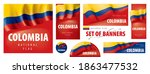 vector set of banners with the... | Shutterstock .eps vector #1863477532