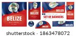 vector set of banners with the... | Shutterstock .eps vector #1863478072