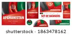vector set of banners with the... | Shutterstock .eps vector #1863478162