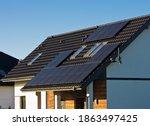 Modern Black Cells Solar Panels ...