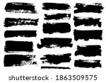 brush strokes. vector... | Shutterstock .eps vector #1863509575