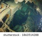 Inside Wreck Sunken Ship...