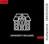 icon university building vector ... | Shutterstock .eps vector #1863524218