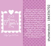 vector happy mothers's day... | Shutterstock .eps vector #186356702