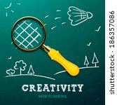 creativity learning. racket... | Shutterstock .eps vector #186357086