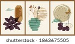 a set of three colorful...   Shutterstock .eps vector #1863675505