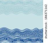 sea pattern vector illustration | Shutterstock .eps vector #186371162