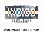 indigo blue jeans  stylish... | Shutterstock .eps vector #1863714085
