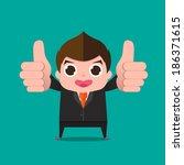businessman very good cartoon... | Shutterstock .eps vector #186371615