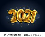 2021  happy new year banner....   Shutterstock . vector #1863744118