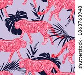 trendy seamless pattern with... | Shutterstock .eps vector #1863763948