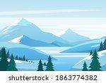 Christmas Winter Mountain...