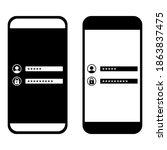 password security access on...   Shutterstock .eps vector #1863837475