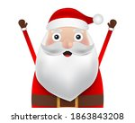 christmas santa claus close up... | Shutterstock .eps vector #1863843208