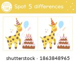 birthday party find differences ... | Shutterstock .eps vector #1863848965
