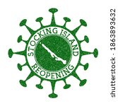 stocking island reopening stamp.... | Shutterstock .eps vector #1863893632