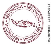indonesia round rubber stamp... | Shutterstock .eps vector #1863893935