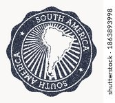 south america stamp. travel... | Shutterstock .eps vector #1863893998