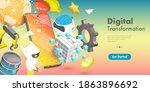 3d vector conceptual... | Shutterstock .eps vector #1863896692