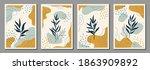 botanical wall art. abstract...   Shutterstock .eps vector #1863909892