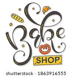 bakeshop   colored vector... | Shutterstock .eps vector #1863916555