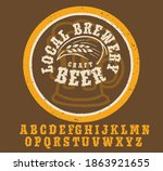 retro set styled label of beer  ... | Shutterstock .eps vector #1863921655
