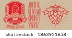 retro set styled label of beer  ... | Shutterstock .eps vector #1863921658