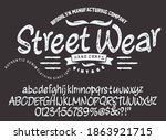 craft vintage typeface design.... | Shutterstock .eps vector #1863921715