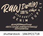 craft vintage typeface design.... | Shutterstock .eps vector #1863921718