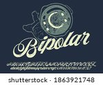 craft vintage typeface design.... | Shutterstock .eps vector #1863921748