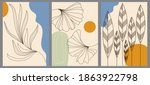 set of abstract creative... | Shutterstock .eps vector #1863922798