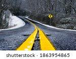 Brasstown Bald roadway seen in the Winter