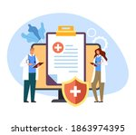 medicine health care protection ... | Shutterstock .eps vector #1863974395