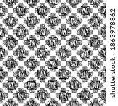 seamless pattern. black... | Shutterstock .eps vector #1863978862